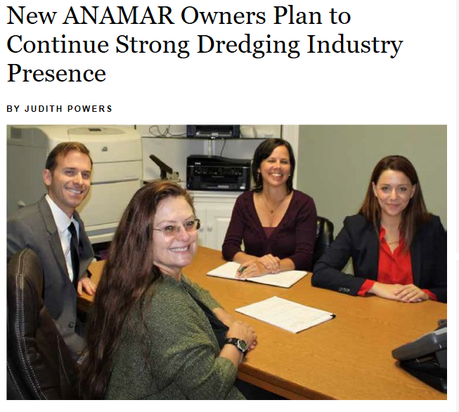 International Dredging Review Article: New ANAMAR Owners Plan to Continue Strong Dredging Industry Presence